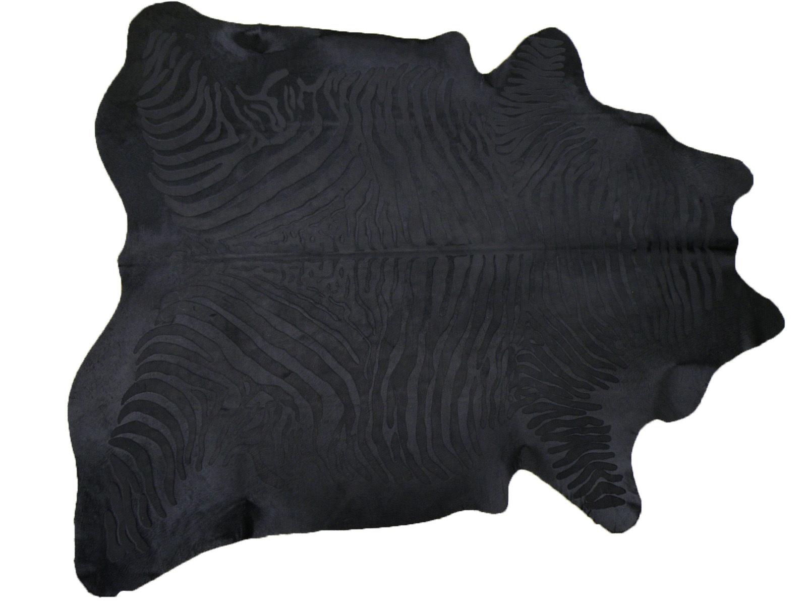 """Шкура коровы """"Зебра черная"""" на черном фоне 25320"""