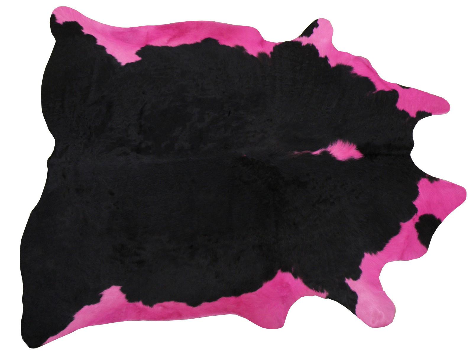 Декоративная шкура коровы черно-розовая 25102