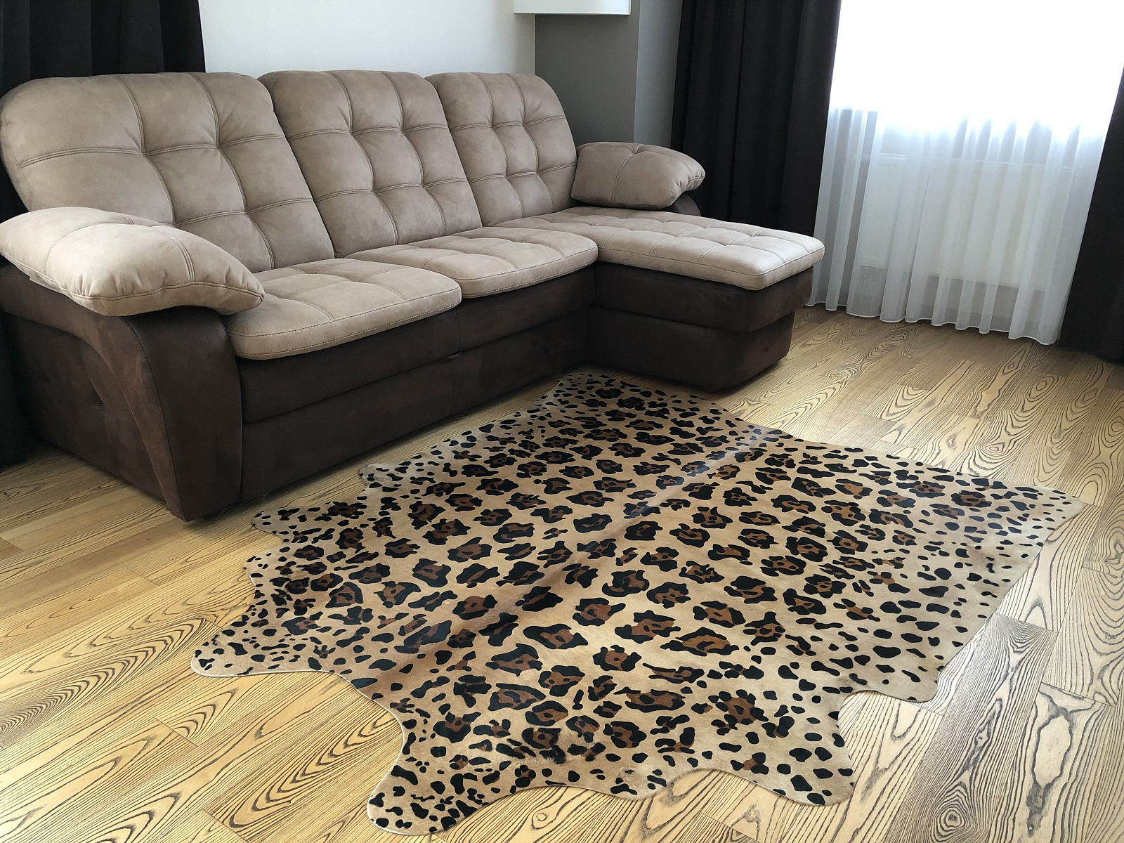 Шкура ягуара — коровья шкура крашеная 25236