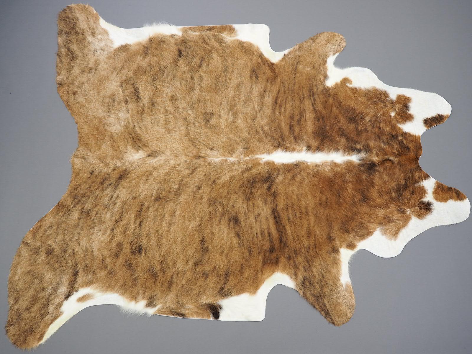 Коровья шкура тигровая бежево-коричневая 25358