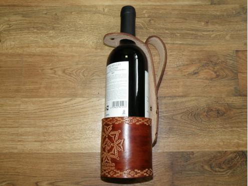 Подставка под вино из кожи арт. 312